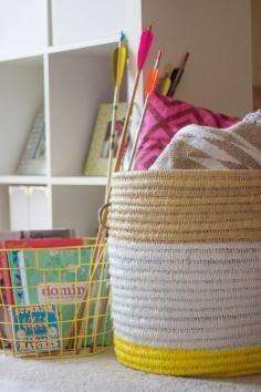 DIY Tutorial DIY Ribbon Crafts / DIY Beautiful Woven Basket from Paper Tube and Ribbon - Bead&Cord