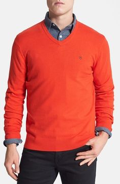 Victorinox Swiss Army® 'Signature' Tailored Fit V-Neck Sweater (Online Only)