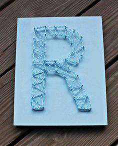 Nail String Art Letter