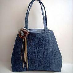 elegant Upcycled Jeans Handbag