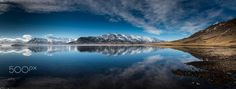 Northern Iceland 2 in Color // ICELAND - The colour version of previously uploaded  a B&W photo... Nikon D810 AND 24-120 F/4 G LENS, PANAROMA OF 5 CAPTURE.