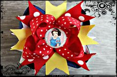 Snow White PRINCESS Hairbow Perfect for your Disney Vacation. $5.99, via Etsy.