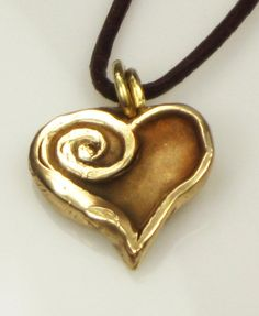 Lovely metal clay pendant