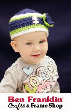 DIY Seahawks Crocheted Baby Hat