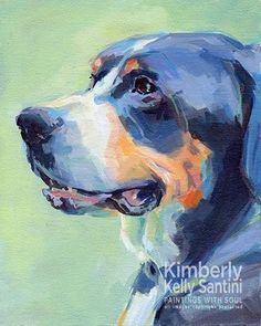"Daily Paintworks - ""Bailey"" by Kimberly Santini"