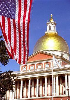 Massachusetts State House, Boston by David Ohmer New England States, New England Travel, Boston Strong, In Boston, Barack Obama, Alaska, Wisconsin, Michigan, Freedom Trail
