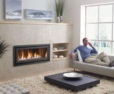 Horizontal Gas Fireplace | Regency Horizon Linear gas