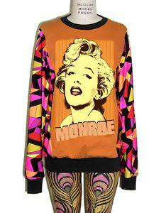 Marilyn Monro 50s Pucci-esque Pattern Sweater L/S T-Shirt Top - XS, S, M, L, XL.