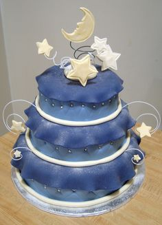 Moon and Stars Cake by Cupcaketherapy, via Flickr