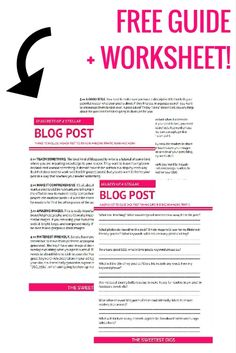 The 7 things you NEED to do in each of your blog posts to make them go viral, get shared, and boost your traffic. Improve your blogging biz and social media outreach with these tips! Click through for the article and free worksheet.