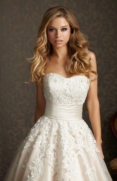 Tulle Lace gown from Allure Bridals Romance