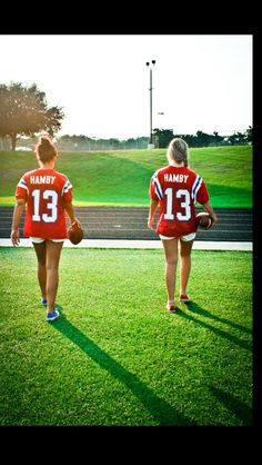 Me & Hailey. Soccer Jersey's. Own numbers. White shorts. Cleats. All this, equals perfection.