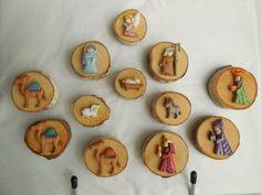 Aimant de Nativité fait main 12 pces