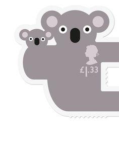 Royal Mail Animail Koala stamp                                                                                                                                                                                 More