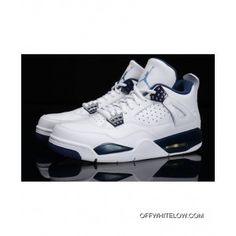 99195ad0f18 Copuon Nike Air Jordan 4 Retro Columbia   Legend BlueFor Mens Girls  Basketball Shoes