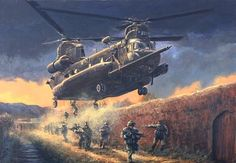 Rangers of 160 SOAR . MH-47 G Chinook