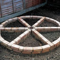 Image result for brick wheel herb garden