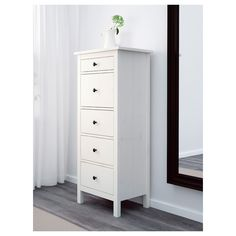 Online Ikea IKEA HEMNES Chest of 5 drawer , white stain in Auckland NZ. Lowest prices and largest range of IKEA Furniture in New Zealand. Shop for Living room furniture, outdoor furniture, bedroom furniture, office and alot more ! Set Of Drawers, Dresser Drawers, Tall Dresser, Tall Drawers, Painted Dressers, Ikea 5 Drawer Chest, Tall Skinny Dresser, Ikea Hemnes Drawers, At Home Furniture Store