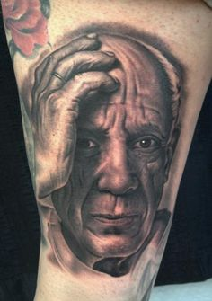 Pablo Picasso Tattoo by Bob Tyrrell