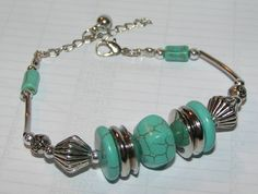 Tibet Silver & Turquoise Bracelet Free Shipping $14.00