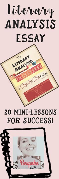 This bundle contains 20 mini-lessons in 22 files/ pages to help guide your high school English students to success on the Literary Analysis Essay. This is one of the BEST-SELLING PRODUCTS from Bespoke ELA. Find mini-lessons for every part of the essay. Teaching Writing, Teaching Tips, Essay Writing, Teaching English, Writing Process, Academic Writing, Literary Essay, Literary Theory, Narrative Essay