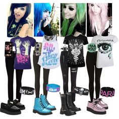 Band outfits! by fightingdreamer, via Polyvore