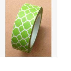 Ruban Washi Tape Vert   ♥ 15mm ♥ 10 metres ♥