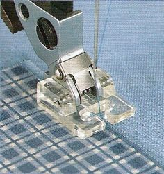 Pfaff Applique Presser Foot can be used to blanket stitch more accurately.