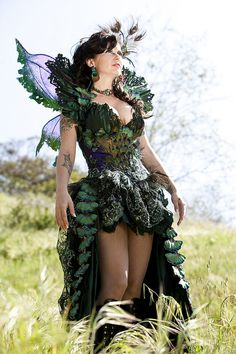 Fairy costume #PeacockFeathers.n I WANT THIS!!
