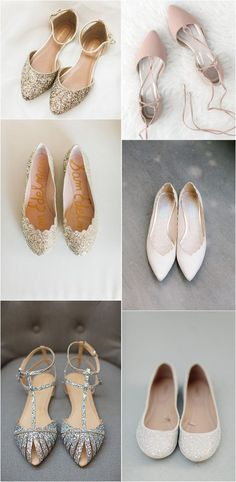 flat wedding shoes #weddingideas #weddingshoes #bridalfashion