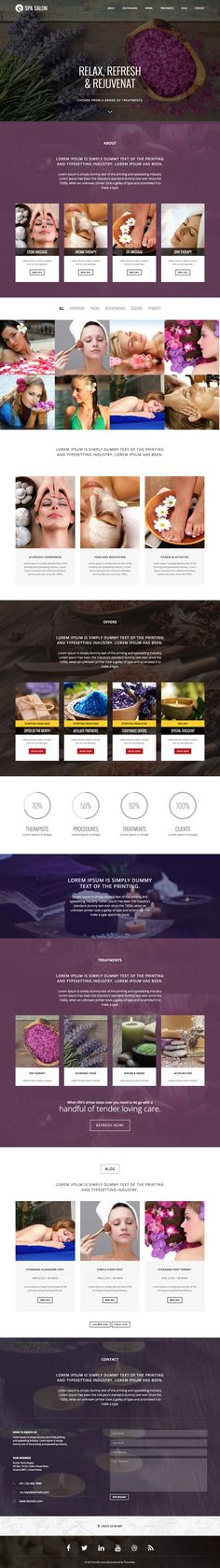 1000 images about one page website templates on pinterest for Interior design employment agency