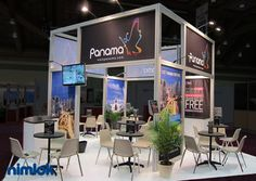 Nimlok specializes in trade show displays, trade show ideas and exhibit designs. For Visit Panama, we created a 20' x 20' booth solution to meet their marketing objectives.