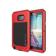 Note 5 Waterproof Case, Punkcase® METALLIC Series RED for Samsung Galaxy Note 5   Aluminum Frame