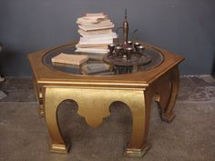 Vintage Moroccan Gold Coffee Table in Near West Side, Chicago, IL, USA ~ Krrb