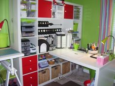 #papercraft #craftroom.   another great use of that ikea expedit