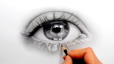 Drawing a realistic eye with a teardrop with Faber Castell graphite pencils - Emmy kalia