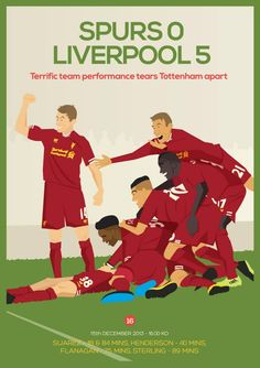 Spurs 0 - 5 Liverpool #LFC #TeamSpirit #thekop