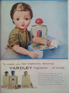 Totally weird perfume ad. Yardley @SHOPHULLABALOO