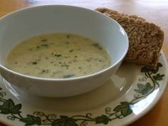 Wild Leek-Potato Soup.