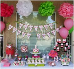 polka dot party!  http://pizzazzerie.com/parties/childrens-parties/polka-dot-sweet-shoppe-1st-birthday-party/