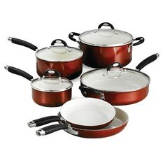 Tramontina Style Ceramica Metallic Copper 10-Piece Cookware Set