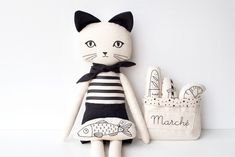 Pets, Home & Garden: Ideal toys for small cats Cat Fabric, Fabric Toys, Fabric Crafts, Handmade Stuffed Animals, Fox Toys, Ideal Toys, Sock Dolls, How To Make Toys, Fabric Animals