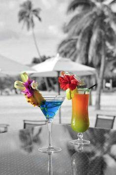 tropical drinks color splash