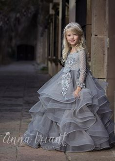 """Dove"" gown by  Anna Triant Couture    Couture flower girl and special occasion dresses"