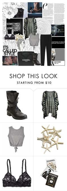 """Je désire ce qui me tue"" by slytherinboyriddle ❤ liked on Polyvore featuring Steve Madden, Chicnova Fashion, H&M, Assouline Publishing, Chanel and Monki"
