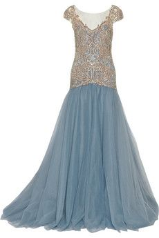 Marchesa Embellished tulle gown | THE OUTNET
