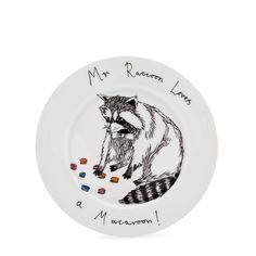 Mr Raccoon Plate | Jimbob Art | Wolf & Badger