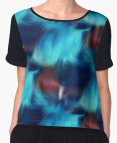 Blue abstract brush strokes design by Susan at Smilin' Eyes Treasures.