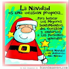 """Un abrazo"""" Merry Christmas And Happy New Year, Christmas Time, Christmas Cards, Christmas Decorations, Merry Xmas, Christmas Stuff, Christmas Quotes, Christmas Pictures, Motivational Messages"""
