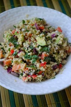 fat girl trapped in a skinny body: Quinoa and Avocado Salad with Lemon Tahini Dressing